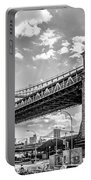 Manhattan Bridge - Pike And Cherry Streets Portable Battery Charger