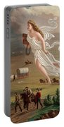 Manifest Destiny 1873 Portable Battery Charger by Photo Researchers