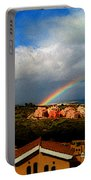 Spanish Landscape Rainbow And Ocean View Portable Battery Charger