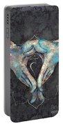 Manipura - Solar Plexus 'blue Hand' Chakra Mudra Portable Battery Charger