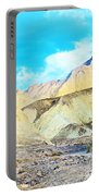 Manly Beacon From Golden Canyon In Death Valley National Park-california Portable Battery Charger