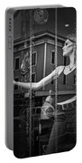 Mannequin In Storefront Shop Window In Black And White Portable Battery Charger