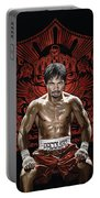 Manny Pacquiao Artwork 1 Portable Battery Charger