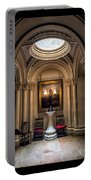 Mansion Hallway Triptych Portable Battery Charger by Adrian Evans