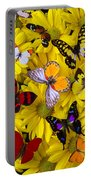 Many Butterflies On Mums Portable Battery Charger