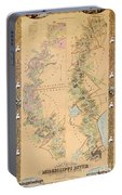 Map Depicting Plantations On The Mississippi River From Natchez To New Orleans Portable Battery Charger
