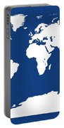Map In Blue And White Portable Battery Charger