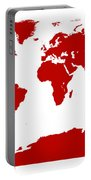 Map In Red Portable Battery Charger