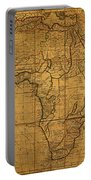Map Of Africa Circa 1829 On Worn Canvas Portable Battery Charger
