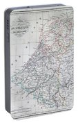 Map Of Belgium And Holland Or The Netherlands Portable Battery Charger