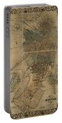 Map Of Boston 1852 Portable Battery Charger