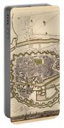 Map Of Copenhagen 1837 Portable Battery Charger