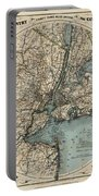 Map Of New York 1891 Portable Battery Charger