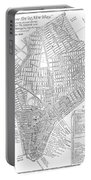Map Of New York City, 1803 Portable Battery Charger