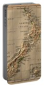 Map Of New Zealand 1880 Portable Battery Charger