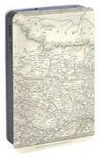 Map Of North India Nepal And Allahabad Portable Battery Charger