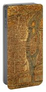 Map Of Paris France Circa 1550 On Worn Canvas Portable Battery Charger