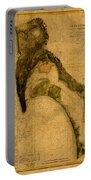 Map Of San Diego Bay California Circa 1857 On Worn Distressed Canvas Parchment Portable Battery Charger