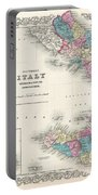 Map Of Southern Italy Sicily Sardinia And Malta Portable Battery Charger
