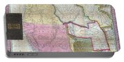 Map Of Texas Oregon And California Portable Battery Charger