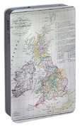 Map Of The British Isles  Portable Battery Charger