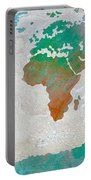 Map Of The World - Colors Of Earth And Water Portable Battery Charger