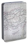 Map Of Turkey Or Asia Minor In Ancient Times Portable Battery Charger