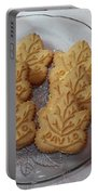 Maple Leaf Cookies And Milk - Food Art - Kitchen Portable Battery Charger