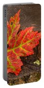 Maple Leaf On Oak Stump Portable Battery Charger