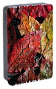 Maple Leaves Cracked Square Portable Battery Charger