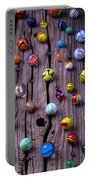 Marbles On Wood Portable Battery Charger