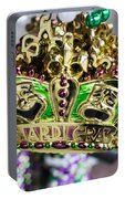 Mardi Gras Beads Portable Battery Charger