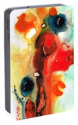 Mardi Gras - Colorful Abstract Art By Sharon Cummings Portable Battery Charger