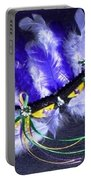 Mardi Gras On Purple Portable Battery Charger