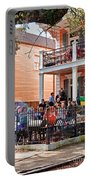 Mardi Gras Party On St Charles Ave New Orleans Portable Battery Charger