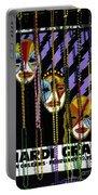 Mardi Gras Poster New Orleans Portable Battery Charger