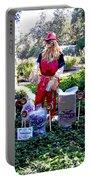 Mardi Gras Scarecrow At Bellingrath Gardens Portable Battery Charger