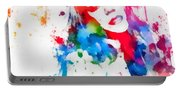Mariah Carey Watercolor Paint Splatter Portable Battery Charger