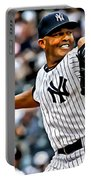Mariano Rivera Painting Portable Battery Charger