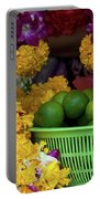 Marigolds And Limes Portable Battery Charger