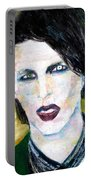 Marilyn Manson Oil Portrait Portable Battery Charger