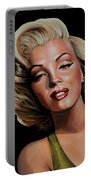Marilyn Monroe 2 Portable Battery Charger by Paul Meijering