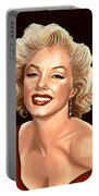 Marilyn Monroe 3 Portable Battery Charger by Paul Meijering