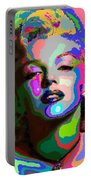 Marilyn Monroe - Abstract 1 Portable Battery Charger