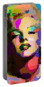 Marilyn Monroe - Abstract Portable Battery Charger