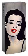 Marilyn Monroe Aka Norma Jean Artistic Impression Portable Battery Charger