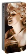 Marilyn Monroe Artwork 1 Portable Battery Charger