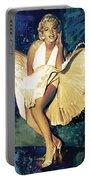 Marilyn Monroe Artwork 4 Portable Battery Charger