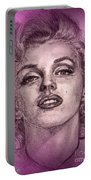 Marilyn Monroe In Pink Portable Battery Charger