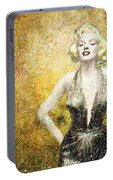 Marilyn Monroe In Points Portable Battery Charger